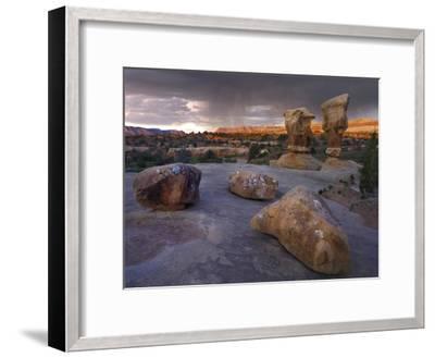 Devil's Garden sandstone formations, Escalante National Monument, Utah-Tim Fitzharris-Framed Art Print