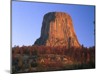 Devil's Tower National Monument showing famous basalt tower, Wyoming-Tim Fitzharris-Mounted Art Print