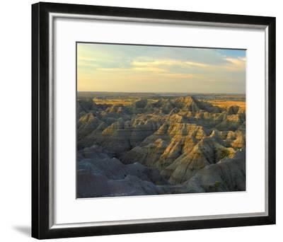 White River Overlook, Badlands National Park, South Dakota-Tim Fitzharris-Framed Art Print