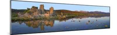 Panorama of tufa towers at Mono Lake, California-Tim Fitzharris-Mounted Art Print