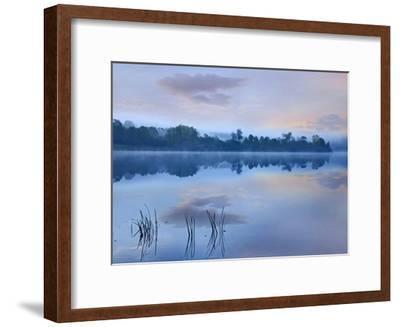Mist over Lackawanna Lake, Lackawanna State Park, Pennsylvania-Tim Fitzharris-Framed Art Print