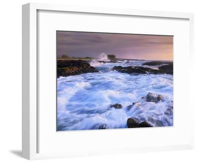 Waves and surf at Wawaloli Beach The Big Island, Hawaii-Tim Fitzharris-Framed Art Print