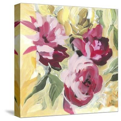 Raspberry Roses-Stacey Wolf-Stretched Canvas Print