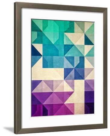Untitled (Pyrply)-Spires-Framed Art Print