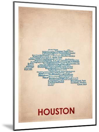 Houston--Mounted Art Print