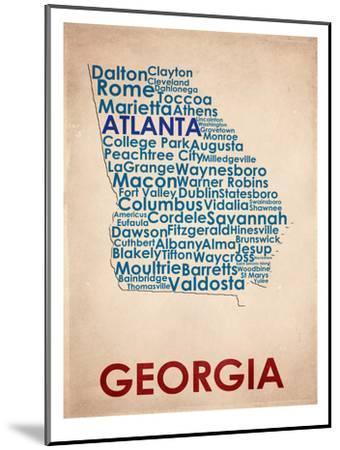 Georgia--Mounted Art Print