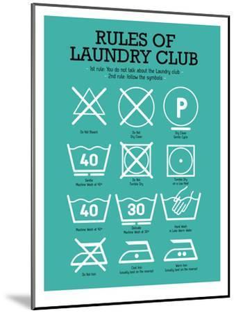 Laundry Club Teal-Patricia Pino-Mounted Art Print