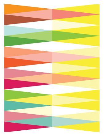 Spring Geometric Triangle-Patricia Pino-Art Print
