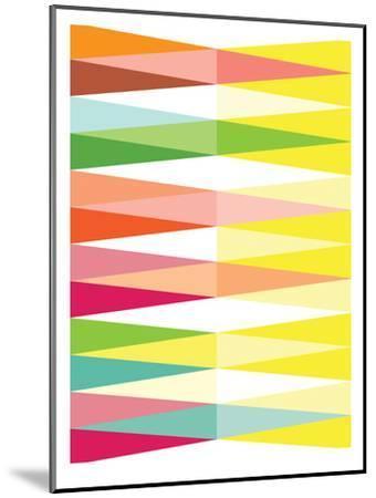 Spring Geometric Triangle-Patricia Pino-Mounted Art Print
