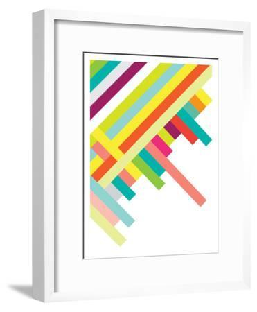 Spring Geometry Poster-Patricia Pino-Framed Art Print