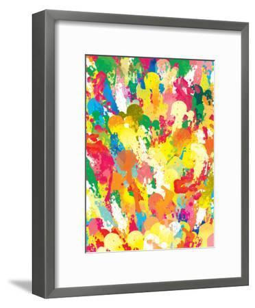 Spring Pattern Paintbrush-Patricia Pino-Framed Art Print