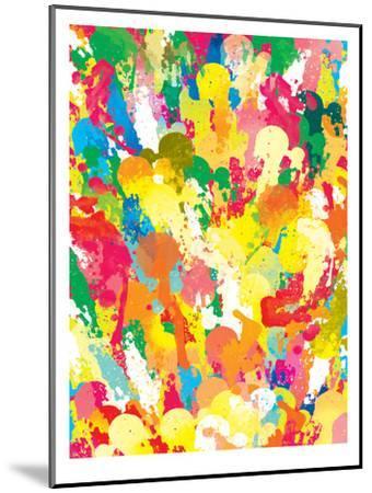 Spring Pattern Paintbrush-Patricia Pino-Mounted Art Print