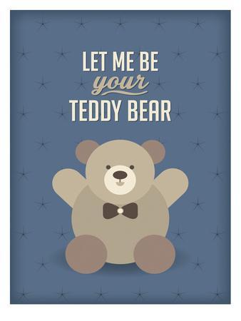 Teddy Bear-Patricia Pino-Framed Art Print