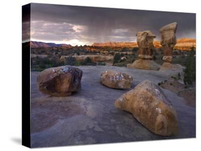Devil's Garden sandstone formations, Escalante National Monument, Utah-Tim Fitzharris-Stretched Canvas Print