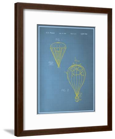 Parachute Blueprint--Framed Art Print