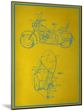 Motorcycle Blueprint--Mounted Art Print