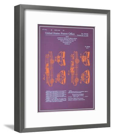 Batmobile Design Blueprint--Framed Art Print