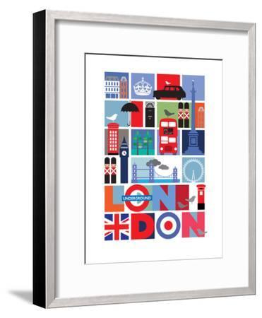 London-Visual Philosophy-Framed Art Print
