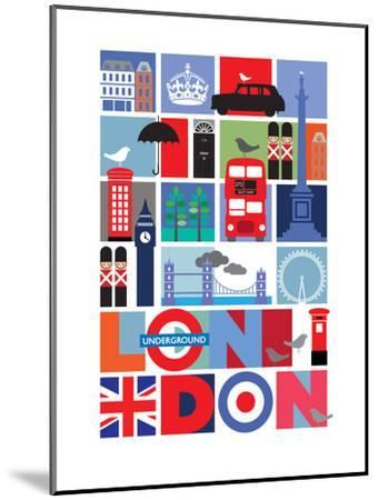 London-Visual Philosophy-Mounted Art Print