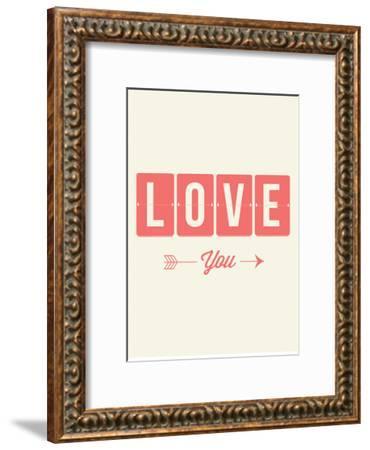 Love You Flip-Brett Wilson-Framed Art Print