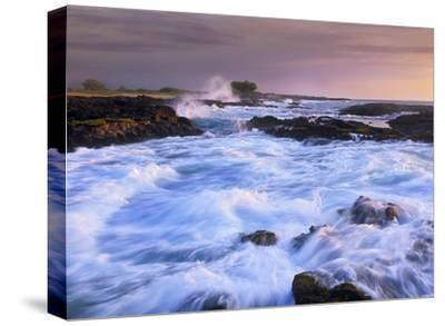 Waves and surf at Wawaloli Beach The Big Island, Hawaii-Tim Fitzharris-Stretched Canvas Print