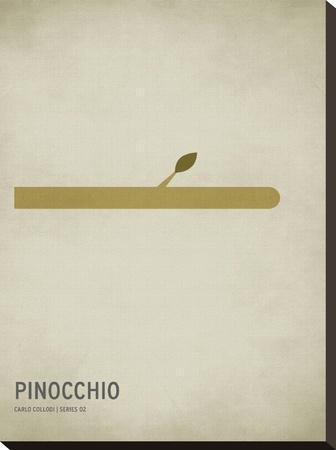 Pinocchio-Christian Jackson-Stretched Canvas Print