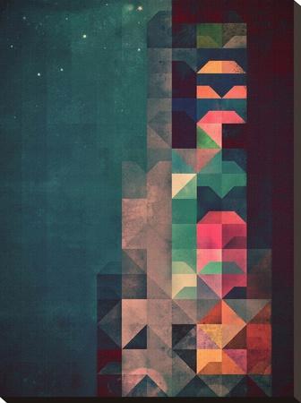 Untitled (byldyynngg)-Spires-Stretched Canvas Print