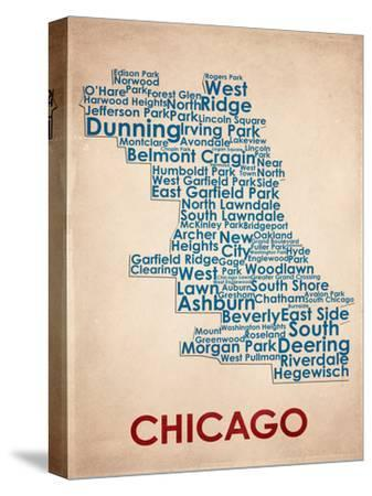 Chicago--Stretched Canvas Print