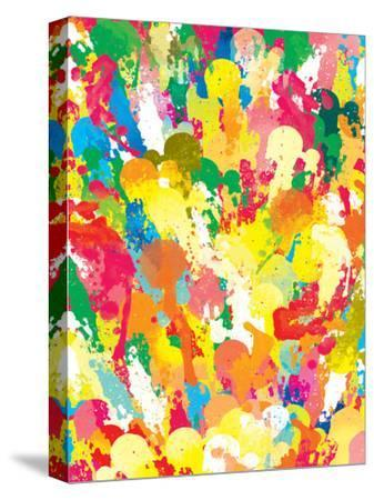 Spring Pattern Paintbrush-Patricia Pino-Stretched Canvas Print