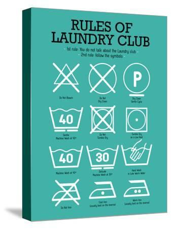 Laundry Club Teal-Patricia Pino-Stretched Canvas Print