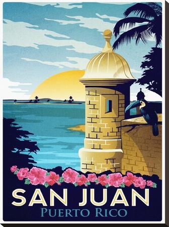 San Juan, Puerto Rico-Matthew Schnepf-Stretched Canvas Print