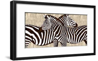 Zebra Gathering-Darren Davison-Framed Giclee Print
