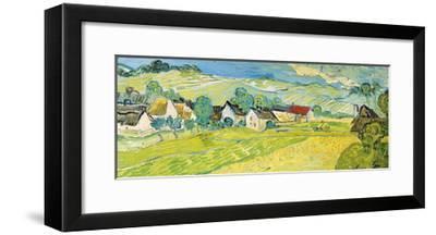 Vue Ensoleille pres d'Auvers-Vincent van Gogh-Framed Giclee Print