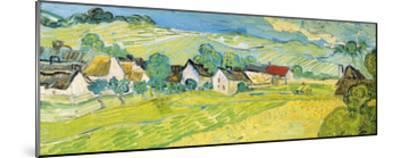 Vue Ensoleille pres d'Auvers-Vincent van Gogh-Mounted Giclee Print