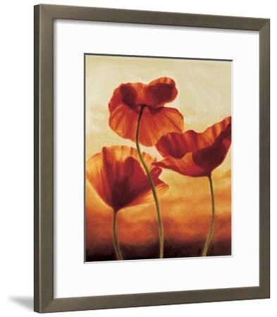 Poppies in Sunlight II-Andrea Kahn-Framed Giclee Print