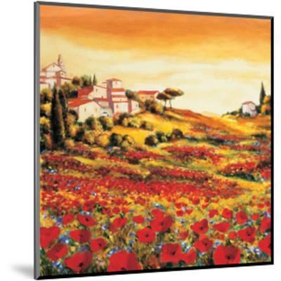 Valley of Poppies-Richard Leblanc-Mounted Giclee Print