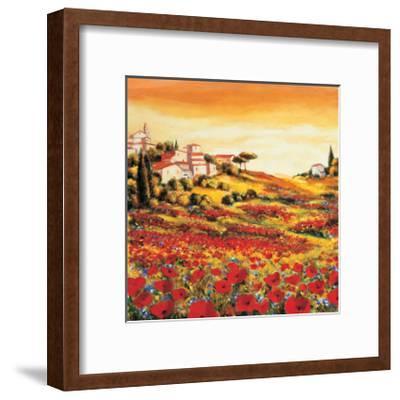 Valley of Poppies-Richard Leblanc-Framed Giclee Print