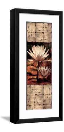 Waterlily Panel II-John Seba-Framed Giclee Print
