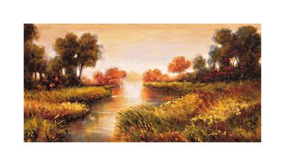 Pond at Daybreak-Jeffrey Leonard-Framed Giclee Print