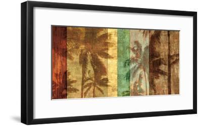 Palm Shadows II-John Seba-Framed Giclee Print