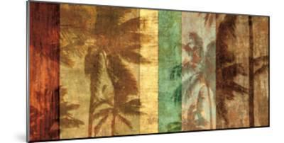 Palm Shadows II-John Seba-Mounted Giclee Print