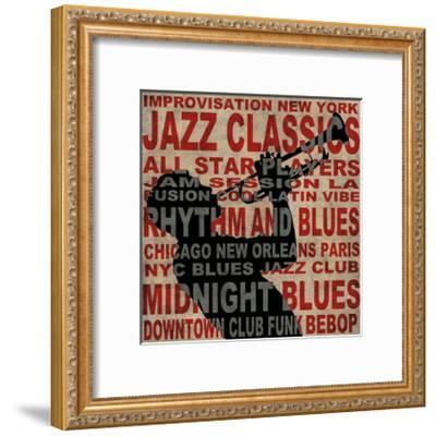 Jazz I-Luke Wilson-Framed Giclee Print