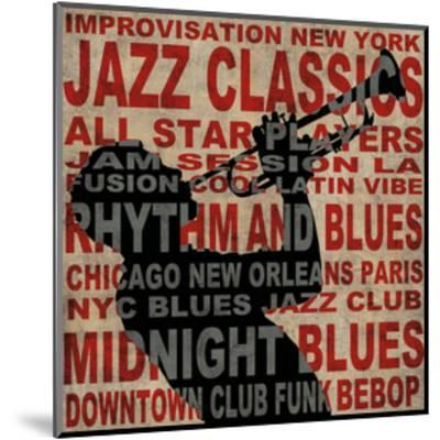 Jazz I-Luke Wilson-Mounted Giclee Print
