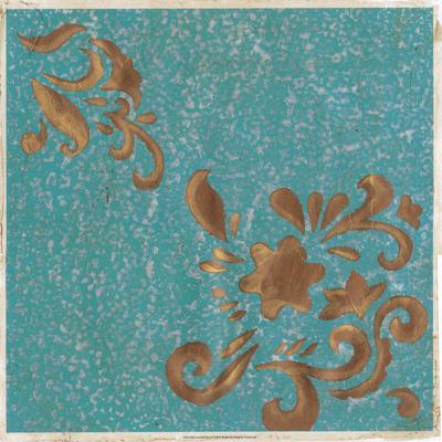 Jeweled Sari IV-Vanna Lam-Framed Art Print