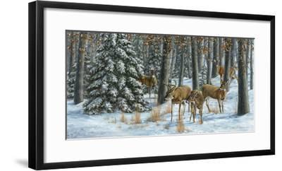 Winter Gathering-Carolyn Mock-Framed Art Print