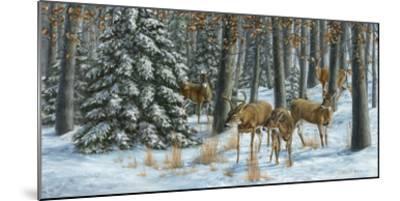 Winter Gathering-Carolyn Mock-Mounted Art Print