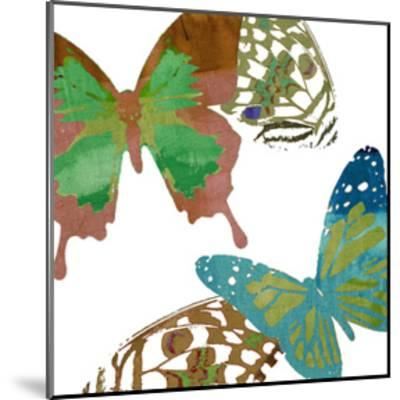 Scattered Butterflies I-Sisa Jasper-Mounted Art Print