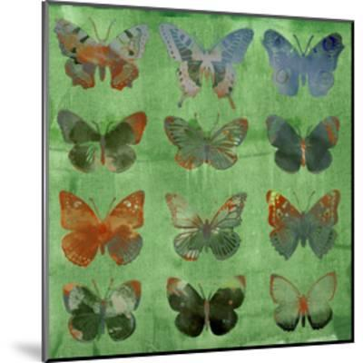 Butterflies on Green-Sisa Jasper-Mounted Art Print