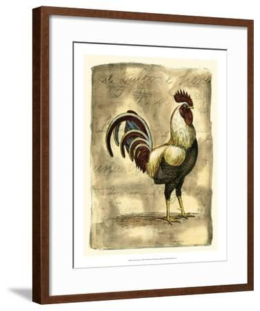 Tuscany Rooster I-D^ Bookman-Framed Giclee Print
