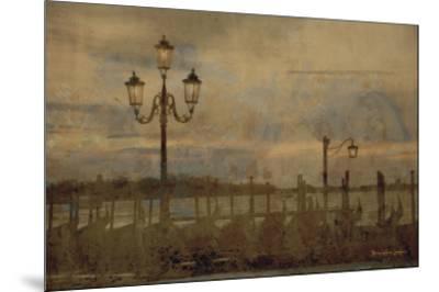 Dawn & the Gondolas I-Terry Lawrence-Mounted Art Print